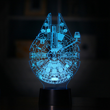 7 Colour 3D Led Light Creative Cartoon LED Night Light Furnishing Articles Kids Gift Toys Bedroom Lamp Decoration Night Light