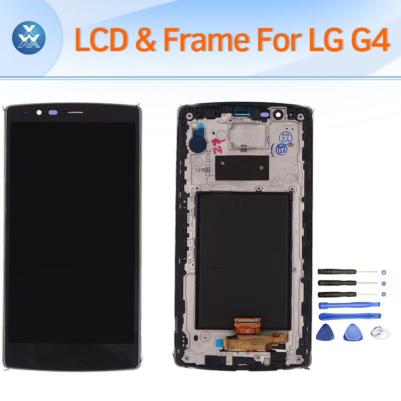 LCD Display For LG G4 H810 H815 H818 Lcd Screen With Frame Touch Screen Digitizer Glass Assembly pantalla 5.5inch Black<br>