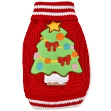 Winter Warm Christmas Dog Sweaters Lovely Green Elk Clothes For Small Dog Christmas Tree Pet Clothing Cat Coat Kitten Apparel