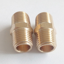 "Pack of 20 brass pipe fitting hex nipple 1/4""male NPT *1/4""male NPT BPFNPT-HN-1/4-1/4"