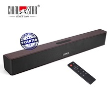 Wood Grain Wireless Soundbar Chialstar Mini Sound Bar Audio Stereo Speakers Music Player for Gym,Yoga,Party,Outdoor,Cycling(China)