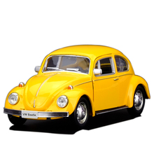 RMZ city Model Toy 1/32 Scale Volkswagen Beetle 1967 Vintage Diecast Pull Back Car Kids Toys Gift Collection FreeShipping