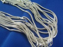 H:HYDE Nice Shipping 5pcs silver color Womens Mens Snake Chain Necklace 16-30inch Available