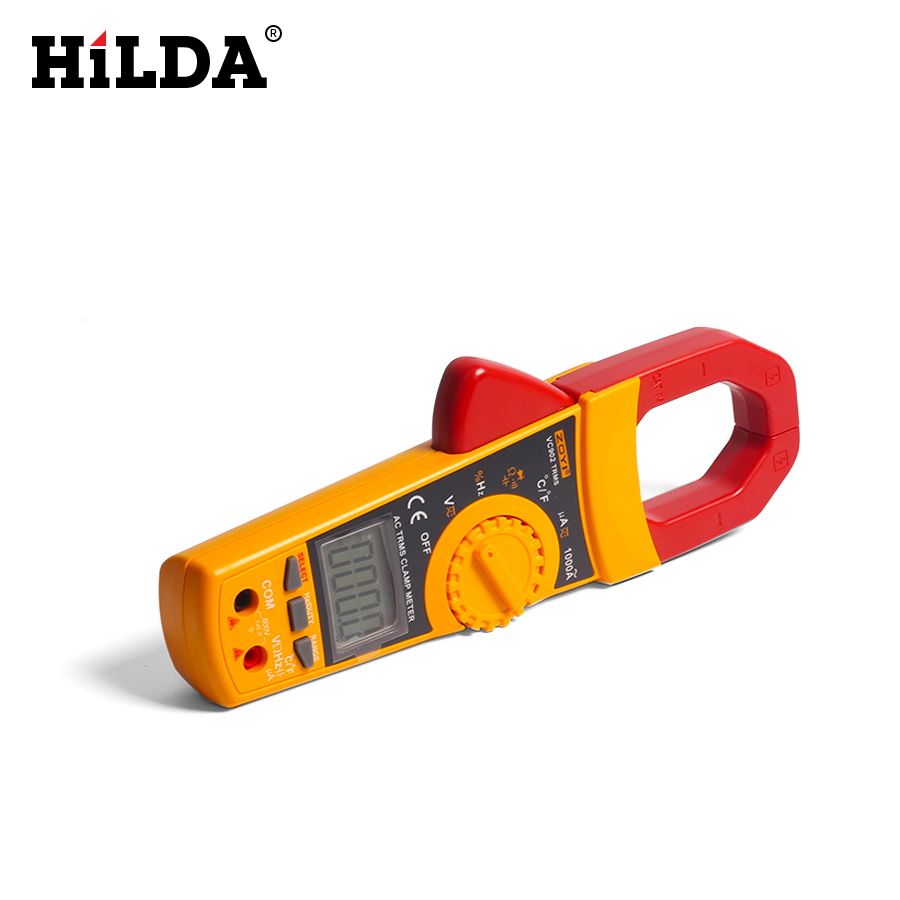 ZOTEK AC Clamp Meter Resistance Capacitance Temperature Multimeter PortableDigital Clamp Meter 6000 Counts 1000A New Arrival<br>