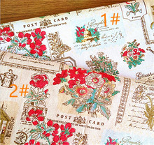 150 cm X 50 cm wholesale supply linen fabric Zakka printed craft fabric for curtains tablecloth