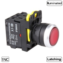 5 PCS Push button switch Industrial switch LED Latching OR Momentary Waterproof IP65 1NC 1NO 2NC 2NO 6 colors