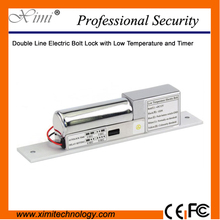 DC12V Low Temperature and Timer Power To Lock And Unlock Without Power Double Line NC Safe Electric Bolt Lock(China)