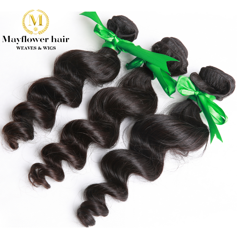 3 bundle deals Malaysian loose wave hair.  100% Unprocessed Malaysian hair weave natural black hair nice texture true length<br><br>Aliexpress