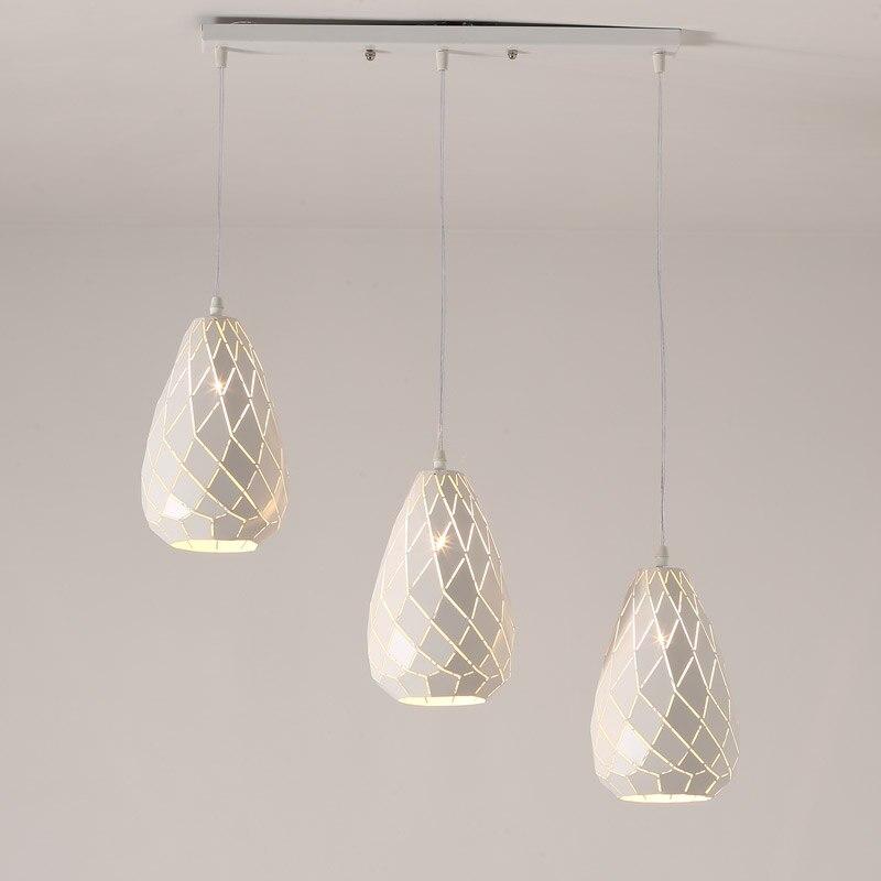 New Modern Pendant Light Dinning Room Kitchen Hanging Lamp E27 Led bulb Gift White Iron Decor Home Lighting Fixtures 110-240V<br>