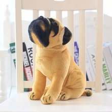 25-35cm New Simulation Pekingese Pug Dog Plush Toy Doll Sitting Posture Genuine Good Quality Lifelike Real Dog Fast Delivery