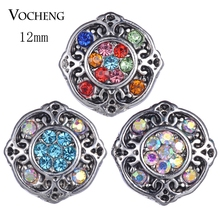 20PCS/LOT Vocheng Snap Jewelry Accessory Small Petite Ginger Snaps 12mm 4Colors Snap Charms Vn-1826*20(China)