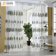 DIHIN 1 PC Curtains For Living Room Tulle Window Bedroom Cortinas Yarn Product Window Curtain Sheer Blinds