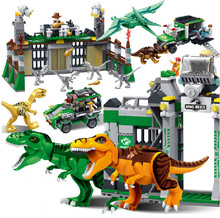 Buy Jurassic World Park Dinosaur Raptor protection zone Building Blocks Sets Bricks Kids Toys juguetes Classic Compatible Legoings for $9.88 in AliExpress store