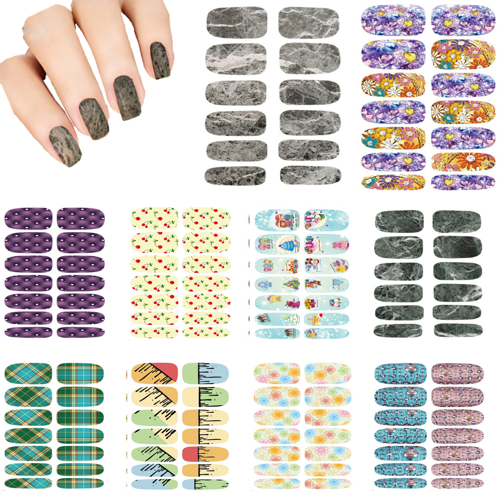 10pcs Set New Water Transfer Nail Art Sapphire Flowers 3d Design Decor Nail Stickers Minx Manicure Tools Nail Wraps Foil Decals(China (Mainland))