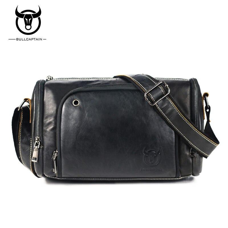 BULLCAPTAIN Brand Casual Men Bags Genuine Leather Large Capacity Man Crossbody Travel bags Fashion Mens Shoulder Messenger bag<br>