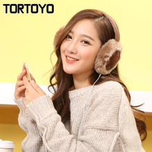 Lucky Star Leather Winter Plush Warm Headphones Wired PC Over Ear Earmuff Earphone Computer Phone Headset with Mic New Year Gift