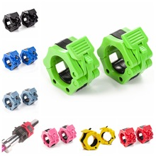 "1 Pair 1"" 2"" Barbell Collars Standard Olympic Spinlock Clamps Dumbbel Spring Clips Lock Jaw Quick Release Gym Fitness Support"