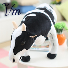 Creative Simulation Dairy Dolls Cute Plush Toys Large Imitation Cow Doll Gift(China)
