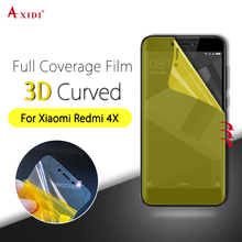 Nanoedge Full Cover Screen Protector for xiaomi redmi 4x Gold Protective Layer Clear Use Layer TPU Screen Protective Film(China)