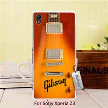 Hot selling fashion skin thin Black pc cell Gibson Guitar American Music Les Paul Acoustic Sunburn For Sony Xperia z3 case