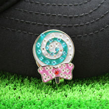 Free Shipping New Lollipop Fine Metal Alloy Golf Cap Clip Golf Hat Clip Golf Ball Marker, Wholesale Price