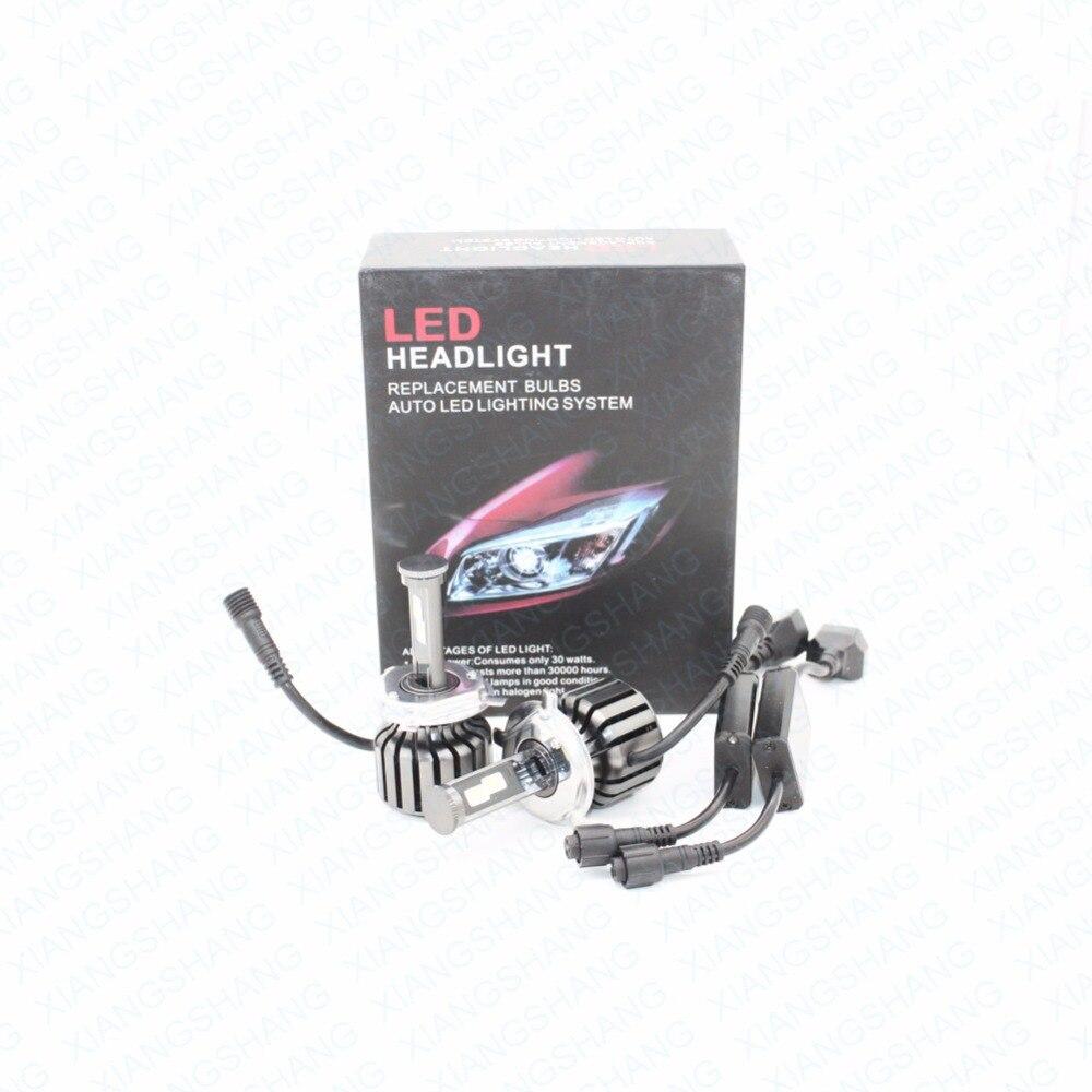 XIANGSHANG H4 Car Led Headlight High Power Auto H4-3 Hi/lo HB2 9003 High Low 40W White 6000K Bulb Repalcement Bi Xenon Headlamp<br><br>Aliexpress