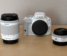 Canon EOS Kiss X7 100D Rebel SL1 Camera Body with EF-S 18-55mm & EF 40mm White Twin Lens Kit