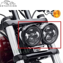 Harley Motorcycle Dyna Fat Bob Daymaker Style Head Lights 4.5inch single low beam and single high beam FatBob Dual Headlamp
