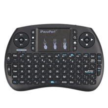 iPazzPort 2.4G Wireless Multimedia Mini QWERTY Keyboard with Touchpad Mouse Remote Control for Android Google TV Box Pad Windows(China)