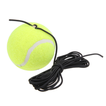 High Elasticity Rubber Woolen Tennis Ball With String rebound balls sparring device For Trainer Practice Tennis(China)