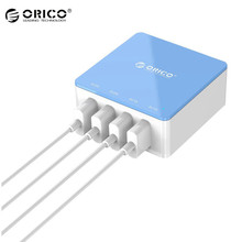 Original ORICO 4 Port USB Desktop Charger Intelligent Charging IC Power Universal For iphone Mobile Phone Tablets USB Devices(China)