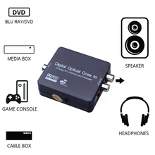 Brand New Digital to Analog Audio Decoder Converter Adapter Convert Digital Coaxial Optical Toslink SPDIF to Stereo 3.5mm Jack