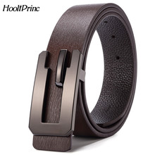 Buy HooltPrinc NEW Cowhide leather fashion luxury high alloy length can adjusted belts men Smooth buckle men belt for $13.36 in AliExpress store