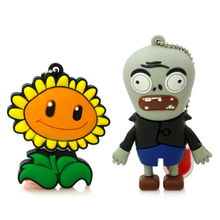 Amthin pendrive cartoon Plants and Zombies 4G 8G 16G 32G sunflower USB2 usb flash drive memory Silicone Rubber Cute plant u disk