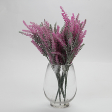 5 Branches 25Heads Fake Silk Lavender Vivid Leaf Bouquet Artificial Flowers For DIY Home Office Party Wedding Decoration(China)
