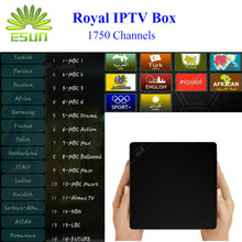 I68 With 1 Year RoyalTV/ESUNTV/LuckyTV Configured Arabic Europe IPTV Android 5.1 TV box RK3368 Octa core H.265 Smart TV Box(China)