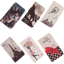 AIYINGE Case For Argos Cat B15 Q 4'' Mobile Phone PU Leather Cover Flip Magnetic Clasp Cartoon Style Bag