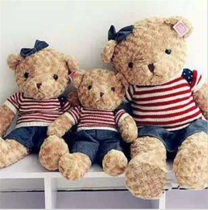 40 CM Four Colors Teddy Bear  Lovely Soft Plush Toys With Coat Wholesale Price Best Gifts Toy For Children Wedding Birthday WL22<br><br>Aliexpress