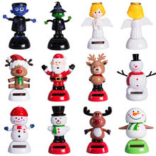 2017 pudcoco Newest Arrivals Hot Christmas Halloween Style Solar Powered For Car Swing Dancing Novelty Toy Funny Toys(China)