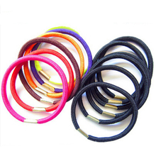 Hot Elasticity Hair Band 10pcs/lot  Black and Candy Colored Hair Holders  Rubber Hairwear Tie Hair Wholesale CC2140