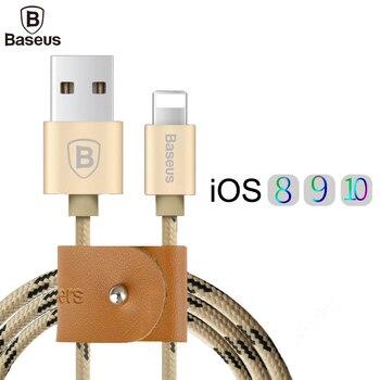 Baseus 0.5 m/1 m/1.5 m usb cable de nylon trenzado de sincronización de datos rápida rayo cable de carga para iphone 7 6 6 s más 5 5S sí ipad iPod