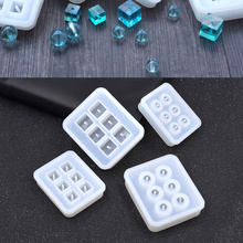 She Love New Transparent Rectangle Silicone Bead Mould Square Ball  6 Hanging Holes DIY Epoxy Jewelry Mold