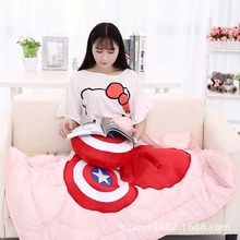Captain America Shield plush toys pillow/blanket Two models, free shopping 1PCS High quality, best gift(China)