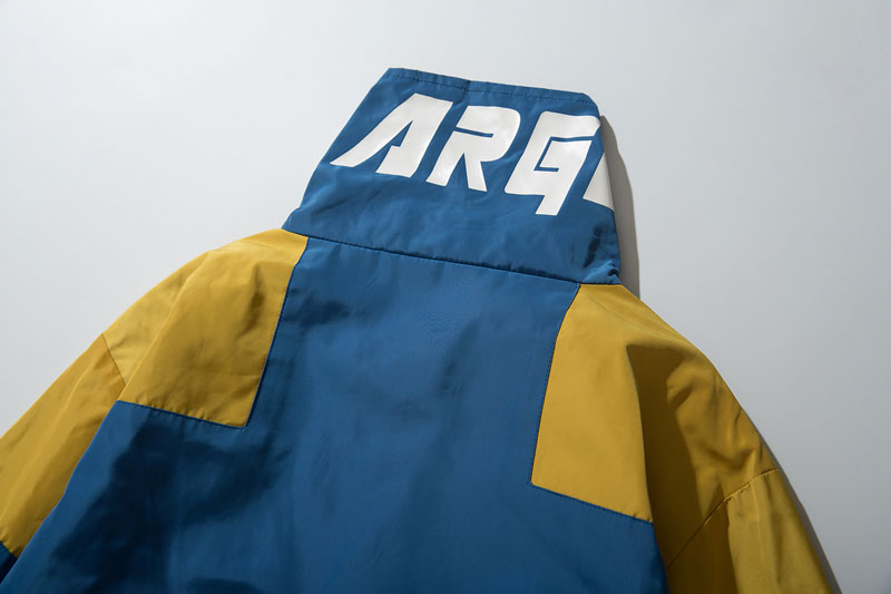 Color Block Patchwork Half Zipper Pullover Jackets 12