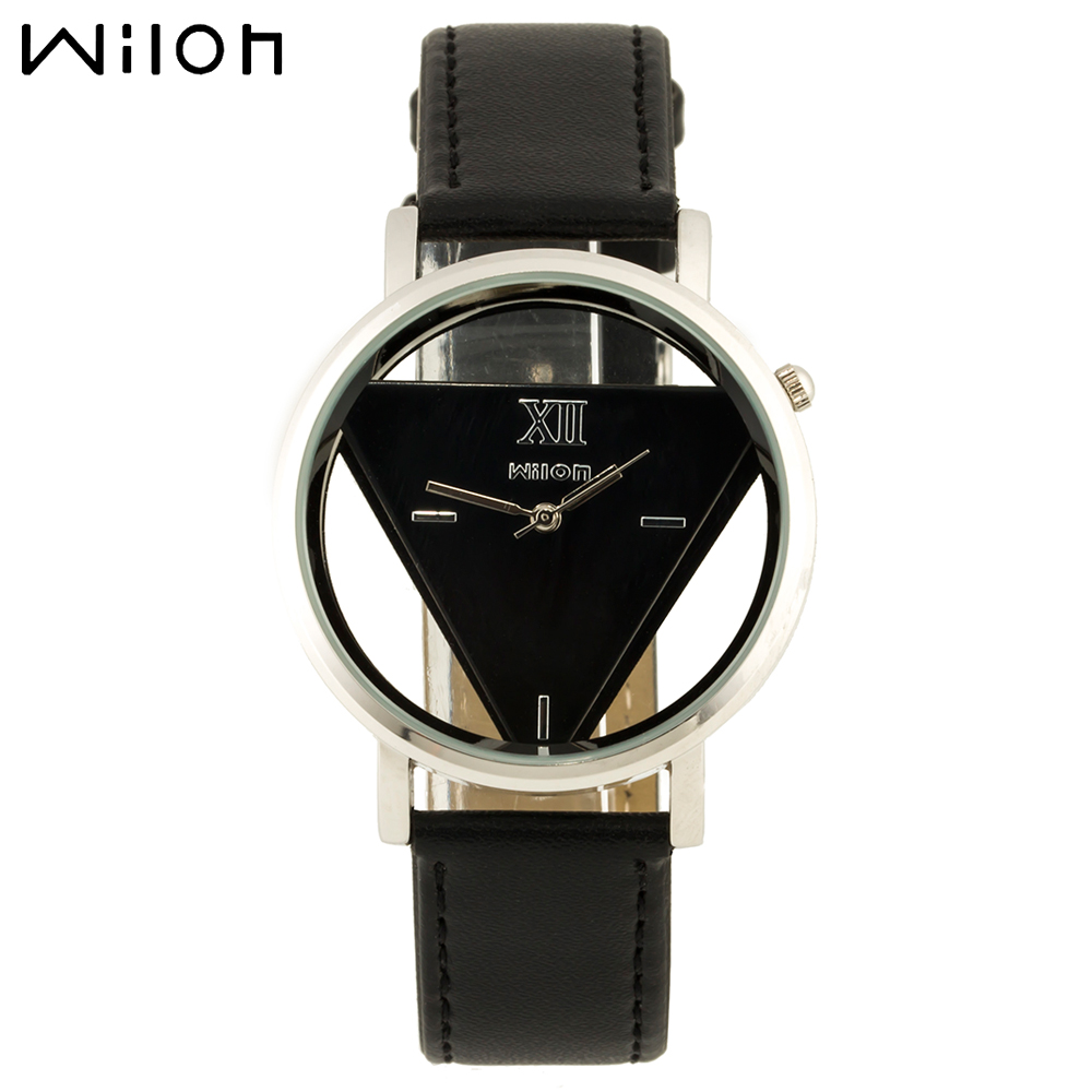 WILON ladies genuine leather quartz watches transparent character design fashion wristwatch business woman watches multicolor<br><br>Aliexpress
