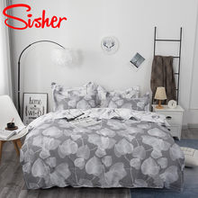Sisher Nordic Style Home Bedding Sets Printing Comforter Quilt Cover Set Size Single Full Double Queen King(China)