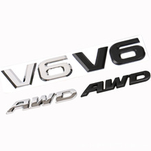 3D Metal Car Logo Sticker Emblem Auto Badge Decal V6 AWD Mercedes BMW Audi VW Ford Mustang Ranger Nissan Toyota car Styling