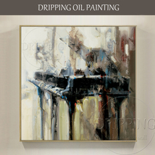 Professional Artist Hand-painted High Quality Impressionist Piano Oil Painting on Canvas Musical Instrument Piano Oil Painting(China)