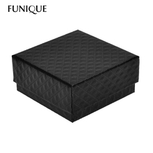 FUNIQUE 1 Jewelry Charm Bracelet &Watch box Jewelry Gift Boxes Cases Display 7.6cmx7.6cm Jewelry Package(China)