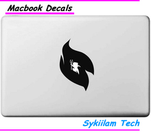 Cartoon Small Devil Ghost Inside Logo Vinyl Sticker for Apple Skin Macbook Air 11 13 Pro 13 15 Retina Computer Car Ad Decal